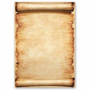Papier à motif PARCHEMIN 50 feuilles DIN A4 Vieux papier Style Ancien