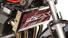 """cache / Grille de radiateur inox poli Suzuki 1400 GSX """"Eclair"""" + grillage rouge"""