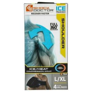 Shock Doctor Ice Recovery Compression Shoulder Wrap XL