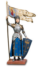 SAINT JOAN OF ARC STATUE SCULPTURE FIGURINE MEDIEVAL CHURCH RELIGIOUS CATHOLIC