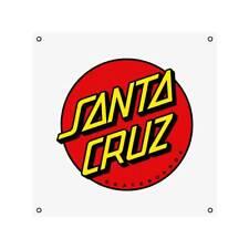"Santa Cruz Skateboard Shop Banner - Classic Dot White - Vinyl 36"" x 36"""