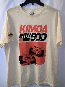 NEW Alonso Kimoa Racing Clothing Indy 500 Men's XL White & Orange T Shirt