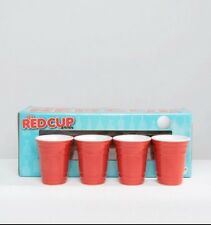 Bigmouth Red Cup **ICONIC DESIGN** Shot Glass Set Of 4 Ceramic Novelty Gag Gift