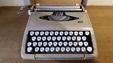 SCM Smith Corona Empire Corona De Luxe Vintage Portable Typewriter in Hard Case