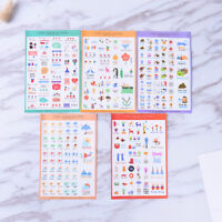 5 Sheets Cute Paper Stickers For DIY Po Album Scrapbook Calendar Diary Set SE