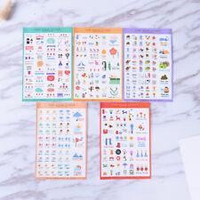 5 Blätter Nette Papier Aufkleber Für DIY Po Album Scrapbook Kalender TagebucTYD