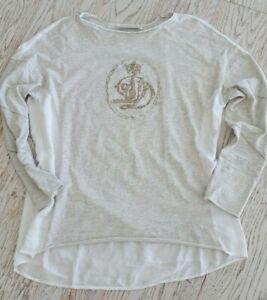 Elisa Cavaletti Shirt Gr. 42 44 XL Longsleeve beige