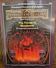 TSR AD&D Adventure Module - H4: THE THRONE OF BLOODSTONE - 1988  (REPRINT BOOK)