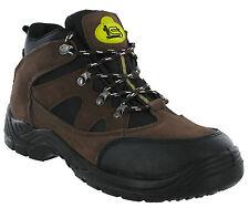 Sécurité De Mens De Travail En Acier D'orteil Capuchon Chukka Chaussure Montante