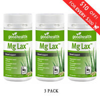 3 x Good Health Mg Lax - Magnesium Bowel Support 60 capsules FREE SHIPPING