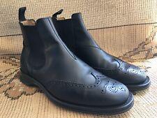 Men's Church's keswick Black leather Brogue chelsea boots size UK 10 US 11