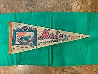 New York Mets World Champions Pennant Banner 1969 Shea Stadium  EXTREMELY RARE