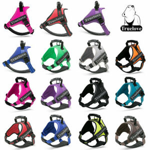 Truelove Dog Puppy No Pull Harness Reflective with Handle 11 Colours 6 Sizes
