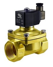 1-1/2 Inch Brass Zero Differential Electric Water Solenoid Process Valve 110V AC