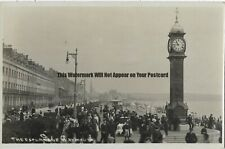 Dorset Weymouth The Esplanade Real Photo Vintage Postcard 29.5