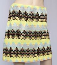 VTG 90's Bazar Christian Lacroix Chevron Zig ZAg Crochet Mini Skirt 42