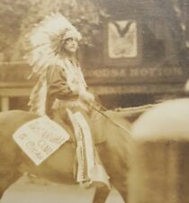 ANTIQUE TUSCARORA CIGAR STORE INDIAN NY RARE SMOKING ADVERTISING FINE RPPC PHOTO
