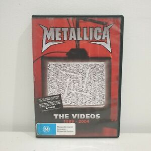 METALLICA THE VIDEOS DVD 1989-2004 (PAL) FREE POST