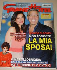 GRAND HOTEL 2014/30=GEORGE CLOONEY=GLORIA BELLICCHI=ELISA ISOARDI=LOLLOBRIGIDA=