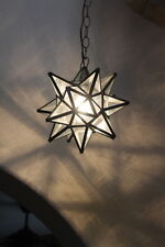 """Moravian Star 11.5 inch"""" clear glass with antique bronze trim"""