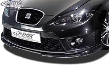 RDX FRONT SPOILER VARIO-X per Seat Leon 1p Facelift dal 2009 Fr & Cupra
