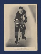 1939-40 O-Pee-Chee V301-1 Cy Wentworth #30 Montreal Canadiens (5 X 7) Card!