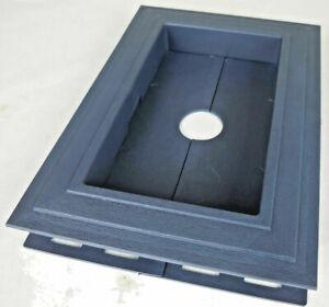 Recessed Split Mount Vinyl Mounting Block Blue Z15885 #7h2