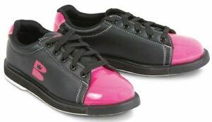 Brunswick TZone Black/Pink Womens Bowling Shoes Size 6