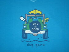 LIFE IS GOOD WOMEN'S S/S CREW DOG GONE JEEP VEE  T- SHIRT SIZE L