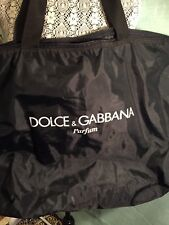 Dolce & Gabbana Perfume Tote  Large Tote Black Bag With Zipper Top