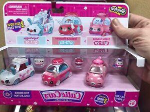 Shopkins Cutie Diecast Cars 3 Pack Exclusive Tea Brake Collection & Mini Figures