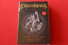 Lord of the Rings Middle Earth Strategy Battle Game Mordor Profile Card Pack New
