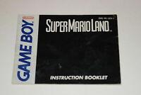 Super Mario Land Nintendo Game Boy Video Game Manual Only