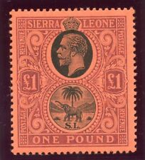 Sierra Leone 1912 KGV £1 black & purple/red superb MNH. SG 128. Sc 119.