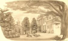 CHELTENHAM. Thirlestaine House. Gloucestershire. By Phyllis Ginger 1948 print
