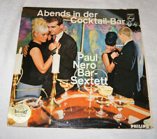 LP: Paul Nero Bar Sextett - Abends in Der Cocktail-Bar - made Germany