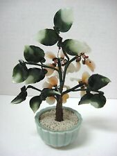 Chinese peach blossom floral on pot great display could be jade