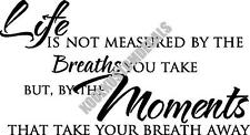Life Measured By Moments Interior Home Vinyl Decal I007