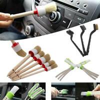 11pcs/set Car Detailing Brush Kit Boar Hair Vehicle Interior For Wheel Clean xcv