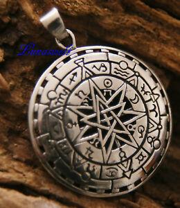 Amulett Pentagramm mit Sternzeichen 925 Sterling Silber Anhänger