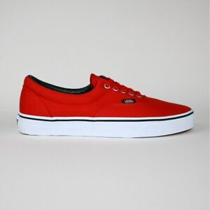 Vans Era Men's Lace Up Canvas Trainers Shoes Red White TN99YK UK Size 9.5