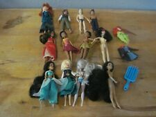 Disney Store 5.5in. RareMini Dolls Lot of 12 Princesses Fairy Princes Some Nude