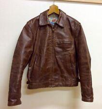 Aero Leather Jacket Highwayman Size 34  Front Quarter Horsehide Brown