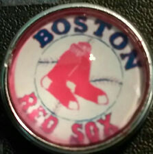 Boston Red Sox  style # 1  18 mm snap button USA Seller