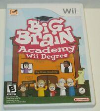 Big Brain Academy: Wii Degree (Nintendo Wii, 2007) NTSC (Scratched Disc)