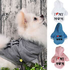 I ❤ My Mom Chihuahua Yorkie Pets Dog Cat Hoodie Warm Coat Puppy Jacket Clothes