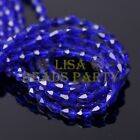 New 100pcs 5X3mm Teardrop Crystal Glass Faceted Spacer Loose Beads Deep Blue