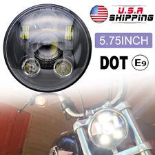 "5-3/4"" 5.75"" LED Headlight Projector Black Sealed for Yamaha V-Star XVS 650 950"
