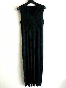 issey miyake pleats please dress size 4 made in japan near mint black