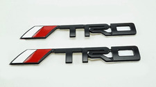 1pc 3D TRD Metal Logo Emblem Badge Black Chrome Car Auto Sticker For Toyota